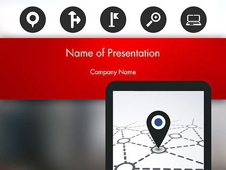 Technology and Science: Navigation System PowerPoint Template #12985