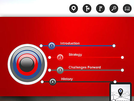 Navigation System PowerPoint Template, Slide 3, 12985, Technology and Science — PoweredTemplate.com