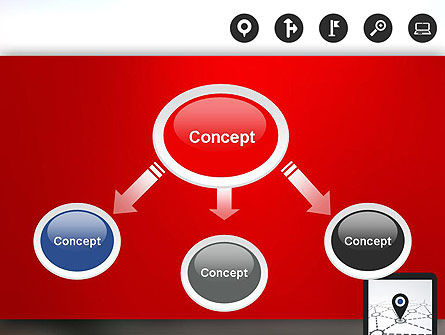 Navigation System PowerPoint Template, Slide 4, 12985, Technology and Science — PoweredTemplate.com