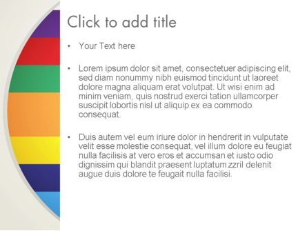 Multi-colored Horizontal Stripes PowerPoint Template, Slide 3, 12987, Abstract/Textures — PoweredTemplate.com