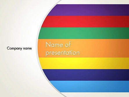 Abstract/Textures: Multi-colored Horizontal Stripes PowerPoint Template #12987