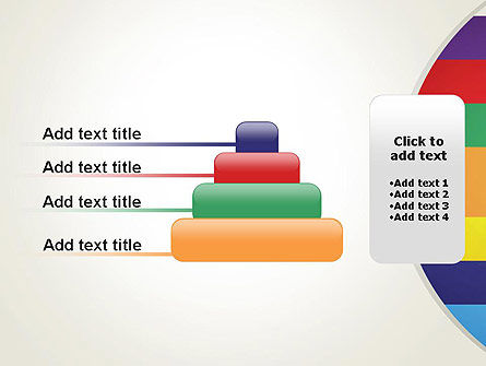 Multi-colored Horizontal Stripes PowerPoint Template Slide 8