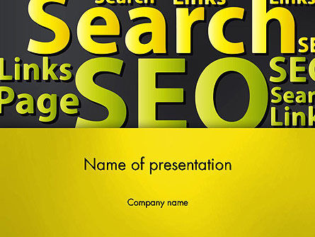 Search Engine Optimization Word Cloud PowerPoint Template