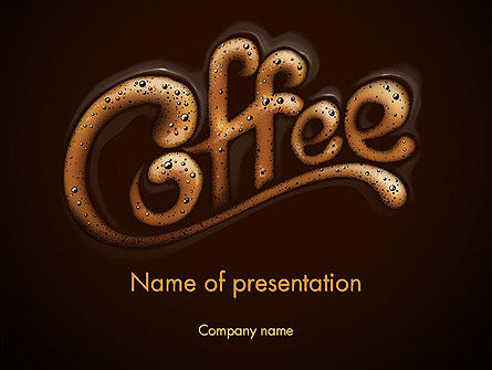 Food & Beverage: Koffie-aroma PowerPoint Template #12989