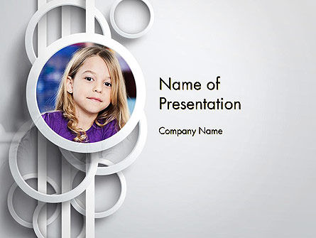 People: White Circles PowerPoint Template #12990