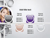 White Circles PowerPoint Template#18