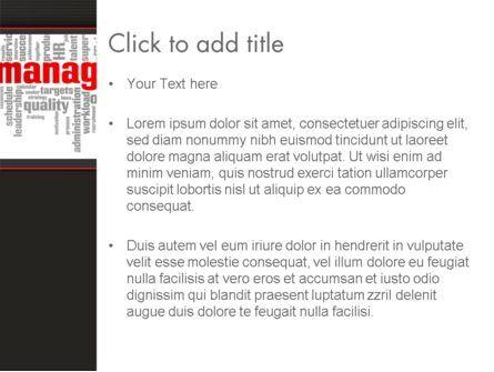 Word Management PowerPoint Template, Slide 3, 12992, Business — PoweredTemplate.com