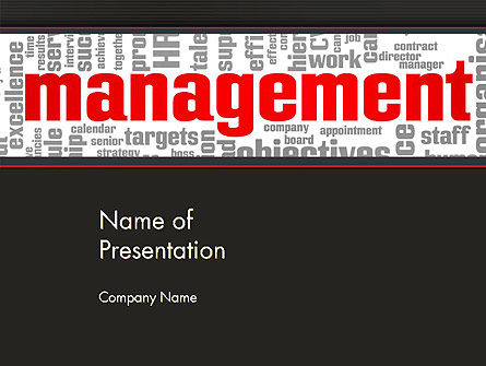 Business: Word Management PowerPoint Template #12992