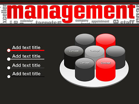 Word Management PowerPoint Template Slide 12