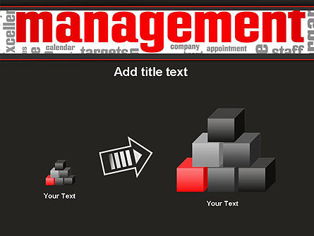 Word Management PowerPoint Template Slide 13