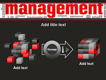 Word Management PowerPoint Template Slide 17