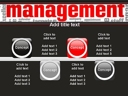 Word Management PowerPoint Template Slide 18