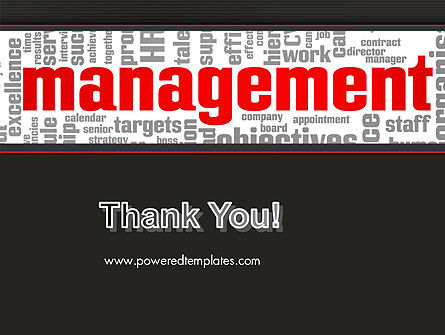Word Management PowerPoint Template Slide 20