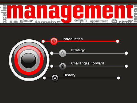 Word Management PowerPoint Template Slide 3
