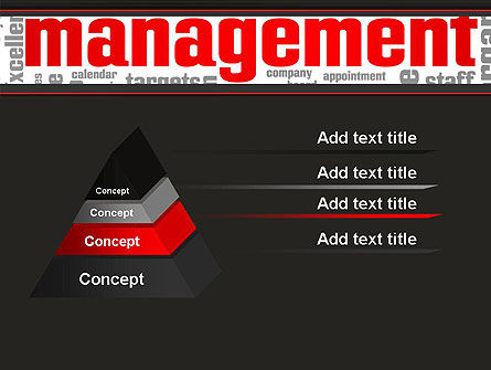 Word Management PowerPoint Template, Slide 4, 12992, Business — PoweredTemplate.com