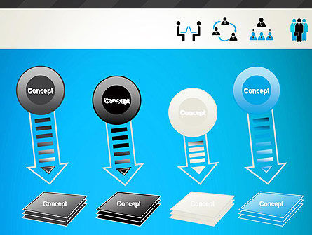 Human Resources Icons PowerPoint Template Slide 8