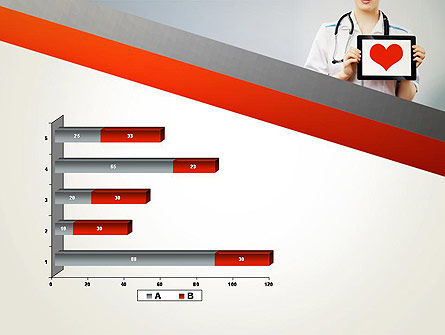 Doctor Holding a Tablet PC with Heart PowerPoint Template Slide 11
