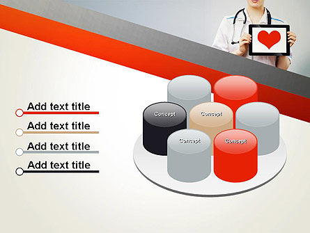 Doctor Holding a Tablet PC with Heart PowerPoint Template Slide 12