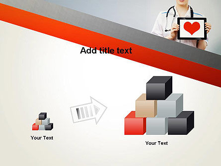 Doctor Holding a Tablet PC with Heart PowerPoint Template Slide 13