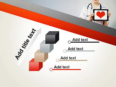 Doctor Holding a Tablet PC with Heart PowerPoint Template Slide 14