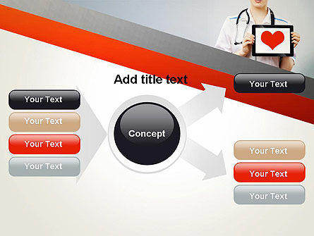 Doctor Holding a Tablet PC with Heart PowerPoint Template Slide 15