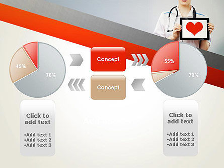 Doctor Holding a Tablet PC with Heart PowerPoint Template Slide 16