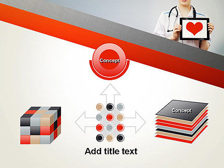 Doctor Holding a Tablet PC with Heart PowerPoint Template Slide 19