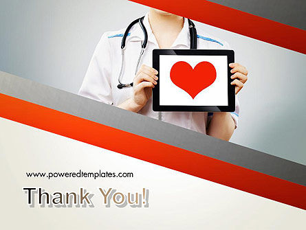 Doctor Holding a Tablet PC with Heart PowerPoint Template Slide 20