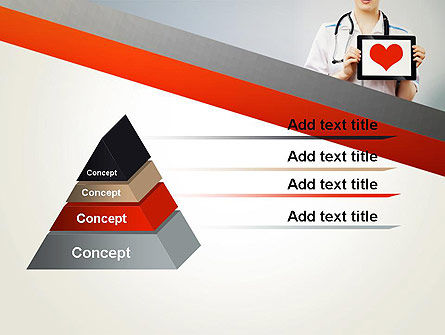 Doctor Holding a Tablet PC with Heart PowerPoint Template, Slide 4, 12994, Medical — PoweredTemplate.com