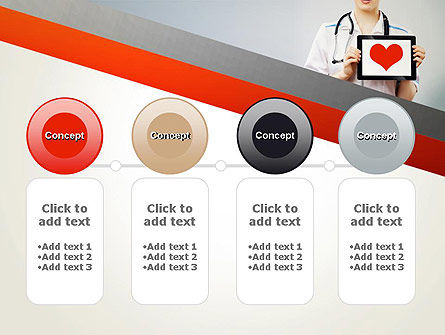 Doctor Holding a Tablet PC with Heart PowerPoint Template Slide 5
