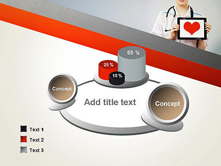 Doctor Holding a Tablet PC with Heart PowerPoint Template Slide 6