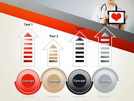 Doctor Holding a Tablet PC with Heart PowerPoint Template Slide 7