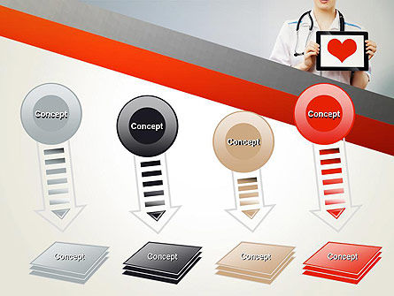 Doctor Holding a Tablet PC with Heart PowerPoint Template Slide 8
