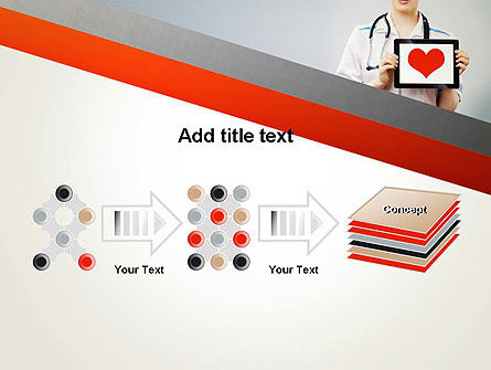 Doctor Holding a Tablet PC with Heart PowerPoint Template Slide 9
