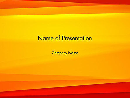 Abstract/Textures: Energetic Orange Background PowerPoint Template #12995