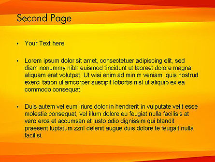 Energetic Orange Background PowerPoint Template Slide 2