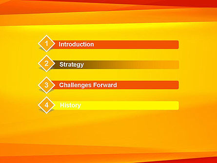 Energetic Orange Background PowerPoint Template Slide 3