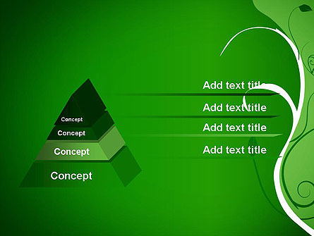 Floral Ornament on Green PowerPoint Template Slide 12