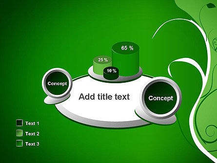 Floral Ornament on Green PowerPoint Template Slide 16