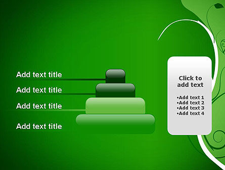 Floral Ornament on Green PowerPoint Template Slide 8