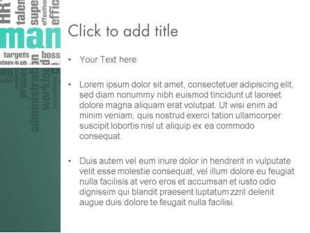 HR Word Cloud PowerPoint Template, Slide 3, 12997, Careers/Industry — PoweredTemplate.com