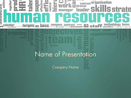 Careers/Industry: Hr Word Cloud PowerPoint Template #12997