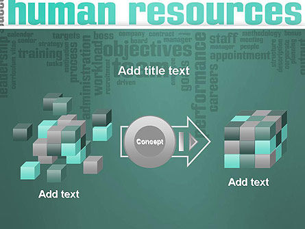 HR Word Cloud PowerPoint Template Slide 17