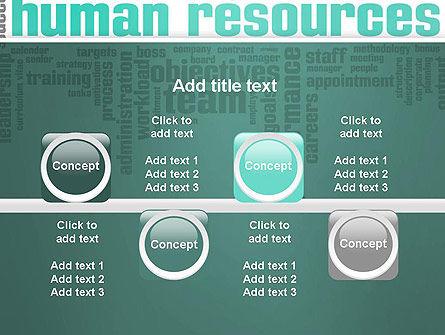 HR Word Cloud PowerPoint Template Slide 18