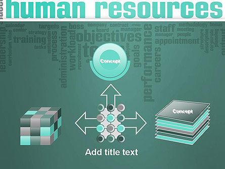 HR Word Cloud PowerPoint Template Slide 19