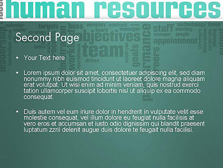 HR Word Cloud PowerPoint Template Slide 2