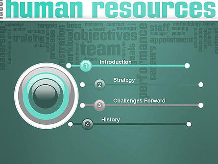 HR Word Cloud PowerPoint Template Slide 3