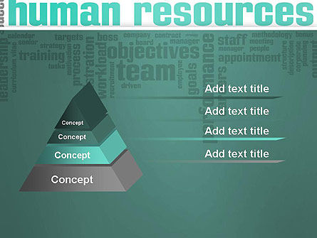 HR Word Cloud PowerPoint Template Slide 4