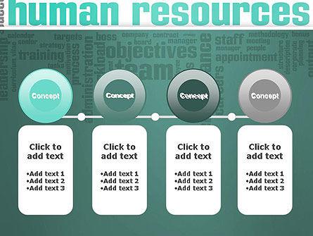HR Word Cloud PowerPoint Template Slide 5