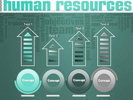 HR Word Cloud PowerPoint Template Slide 7